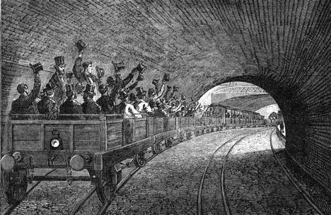 Túnel del Támesis, Londres, Inglaterra.