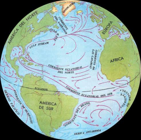 corrientes marinas del oceano atlantico