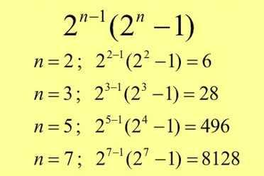 numeros perfectos de pitagoras
