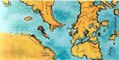primer mapa con las tierra de colon