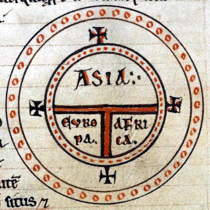 mapa antiguo forma T
