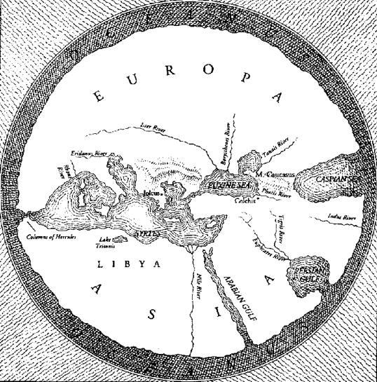 mapa antiguo del mundo anaximandro de mileto