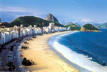 Playa en Brasil de Copacabana