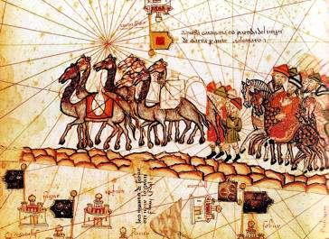 caravana de comercio  medieval
