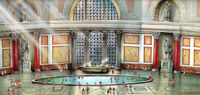 Baños Romanos Historia:Termas de Caracalla Historia Ubicación Origen de los Baños Públicos