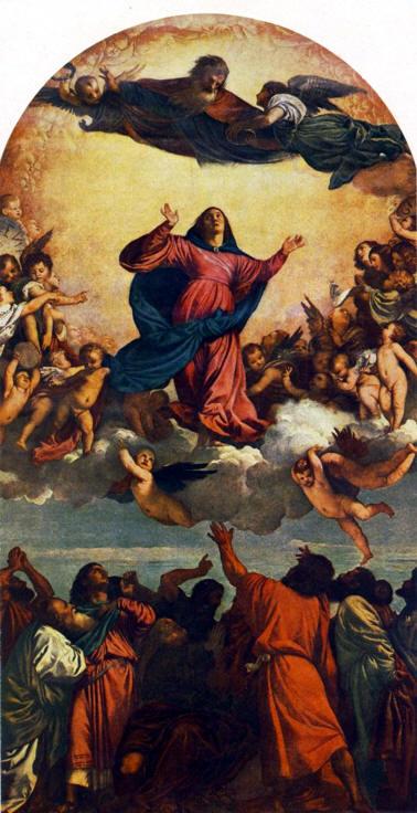 la asuncion de santa maria tiziano