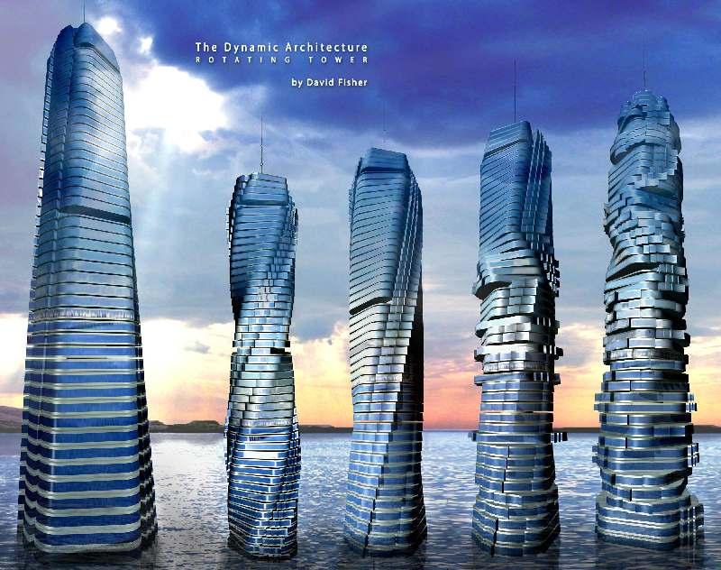 Torre Giratoria en Dubai Torre Dinámica en Dubai Edificio que Gira