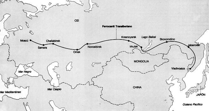 recorrido del transiberiano