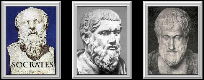 Sócrates  ,   Platón ,       Aristóteles