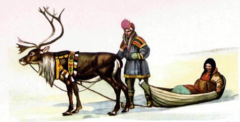 Un trineo de Laponia
