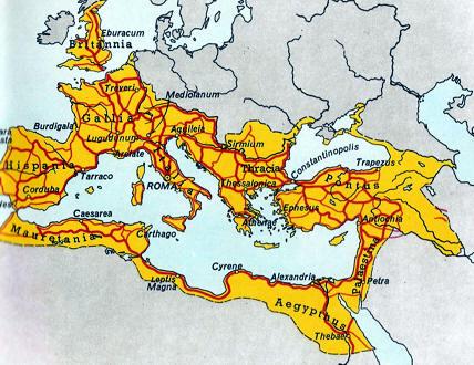 Mapa Carreteras Romanas