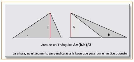 Resultado de imagen para ecuacion area del triangulo