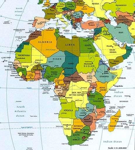 Continente Africano Africa Datos Geograficos Montaas Rios Lagos