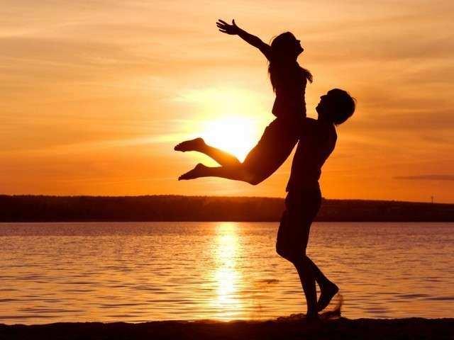 la felicidad de una pareja