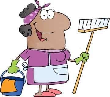 mujer trabajando en el hogar