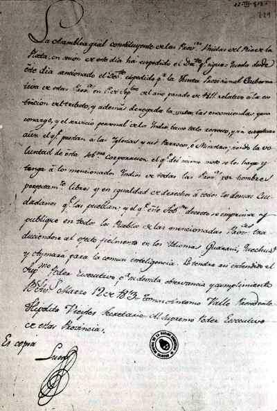 texto de la asamblea de 1813