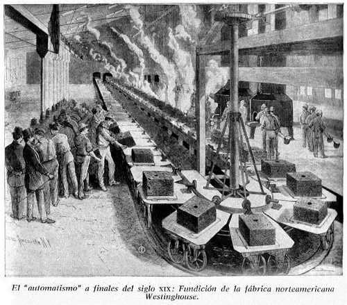 automatizar fabrica siglo xix