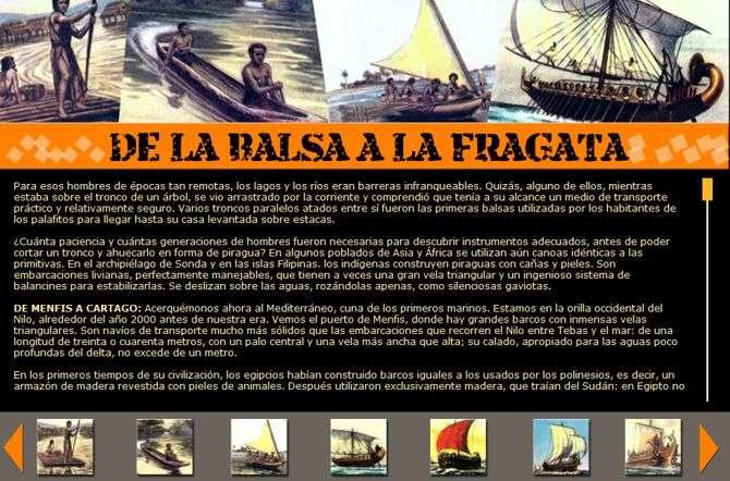 historia de los barcos: desde la balsa hasta la fragata