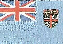 bandera de fiji  en oceania