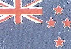 Bandera de Nueva Zelanda en Oceanía