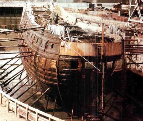 barco hundido y rescatado