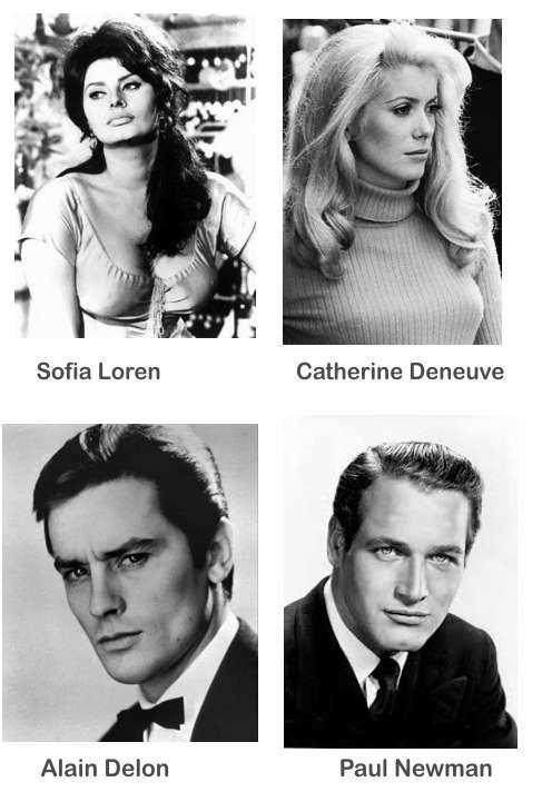 actores y actrices bellos de los años 70