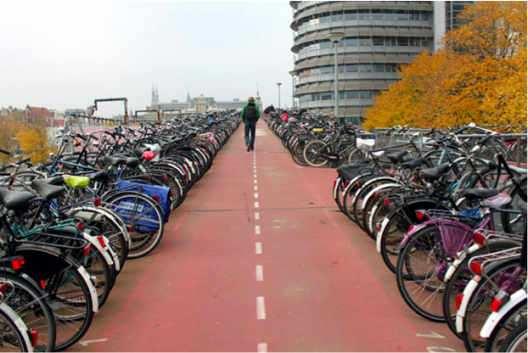 transporte en bicicleta en la ciudad