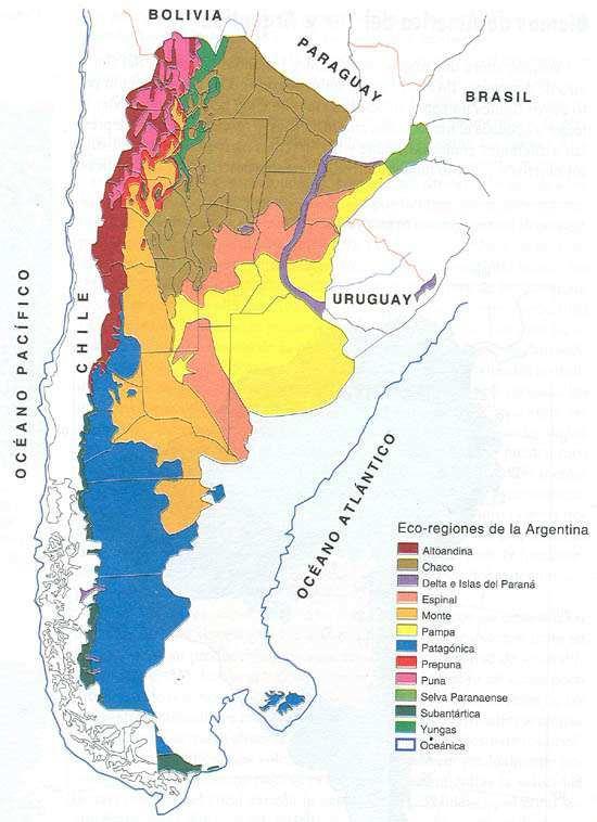 Mapa Bioma de Argentina
