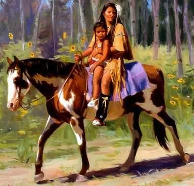 el caballo adoptado por el indio