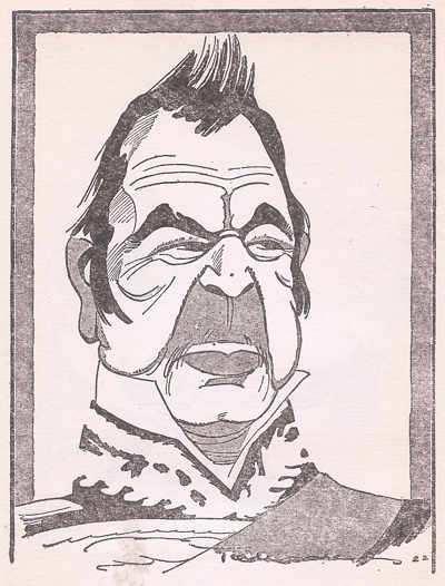 caricatura de hipolito irigoyen