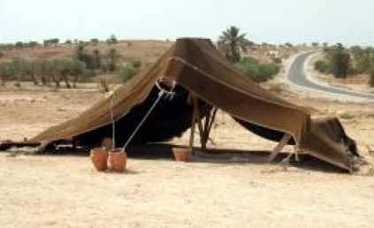 carpa en el desierto