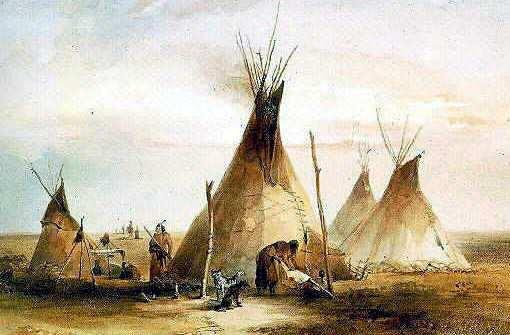 carpa de aborigenes americanos