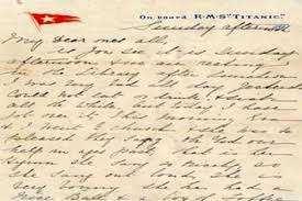 carta historica desde el titanic