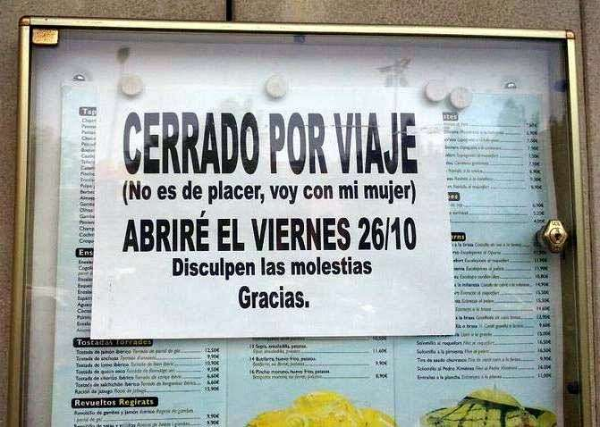 cartel gracioso