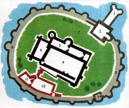 plano de un castillo medieval