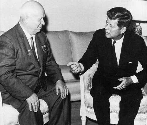 Kennedy y Kruschev