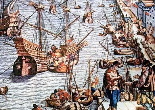 comercio maritimo en la edad media