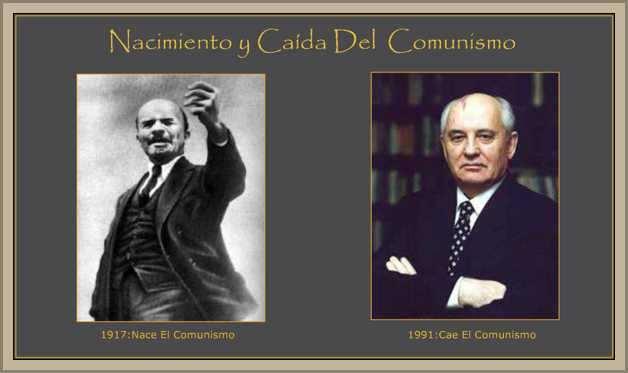 hombres lideres del comunismo ruso: Lenin y Gorvachov