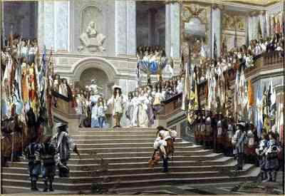 Corte de Luis XIV en Versalles
