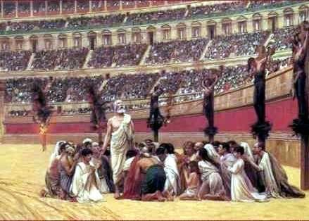 cristianos en el coliseo romano