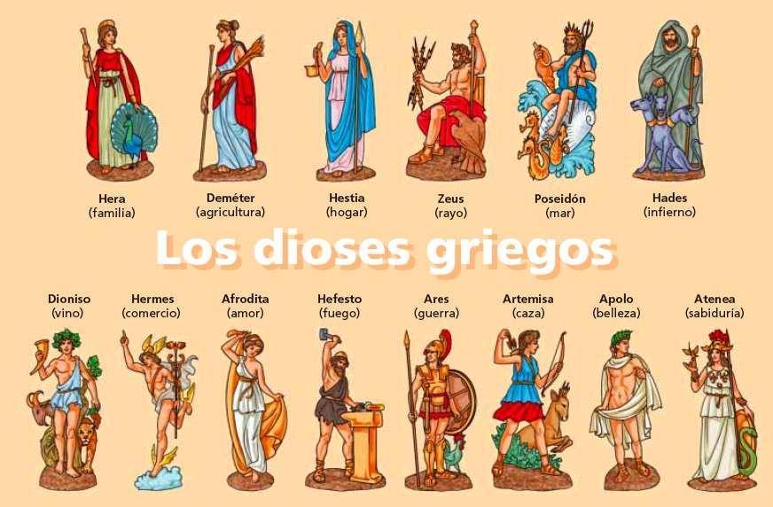 los dioses griegos: hera y zeus