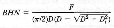 fórmula de dureza brinnell