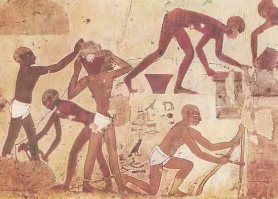 trabajo de los esclavos en egipto antiguo