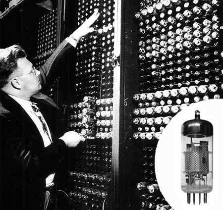 ordenador de la segunda guerra mundial eniac a valvulas