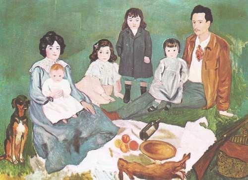 obra de arte mostrando la familia