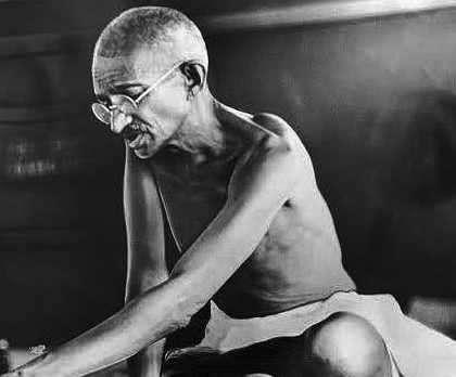 Gandhi, líder de India