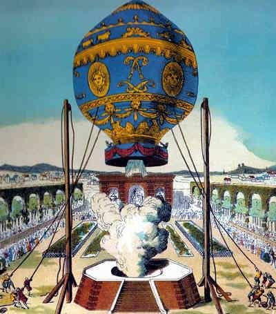 globo aerostatico de los hermanos Montgolfier