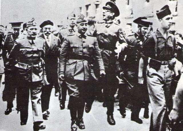Guerra civil española, Franco y sus acólitos