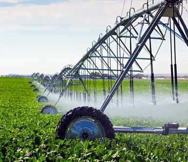 irrigacion de campos por rociadores mecanicos
