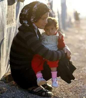 mujer kurda refugiada